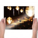 Restaurant Bar Lights  Poster 24x18 inch