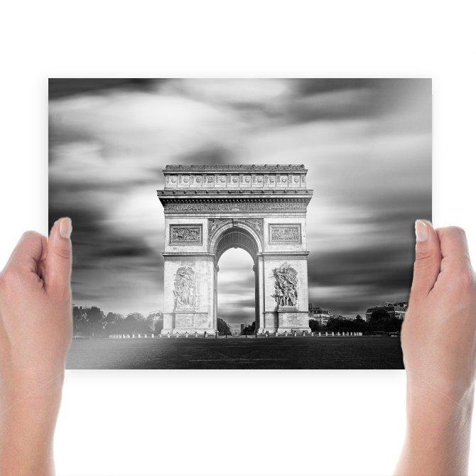 Arc De Triomphe Paris Arch  Poster 24x18 inch