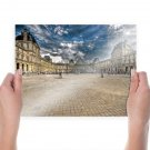 The Louvre Louvre Paris Pyramid Hdr  Poster 24x18 inch
