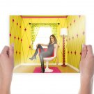 Eliza Dushku Brunette Yellow Room Dollhouse Tv Movie Poster 24x18 inch
