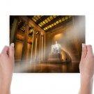 Lincoln Memorial Washington Dc Monument Abraham Lincoln Room Column  Poster 24x18 inch