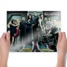 Battlestar Galactica Cast Tv Movie Poster 24x18 inch