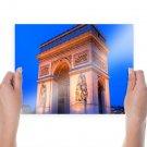 Arc De Triomphe Paris France  Poster 24x18 inch