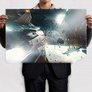 Star Citizen Spaceship Starlight Debris Planet  Poster 36x24 inch