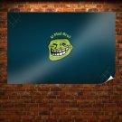 U Mad Bro Meme Troll Face  Poster 36x24 inch