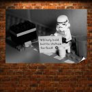 Lego Star Wars Homeless Stormtrooper  Poster 36x24 inch