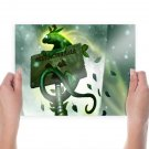 Warning Sign Radioactive Creature Romantically Apocalyptic  Poster 24x18 inch