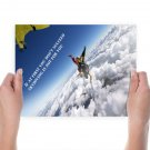 Skydive Freefall Succeed  Poster 24x18 inch