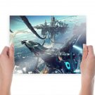 Spaceship Missile Battle  Poster 24x18 inch