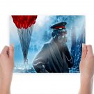 Romantically Apocalyptic Chair Balloons Zee Captain Apocalypse Gas Mask Drawing  Poster 24x18 inch