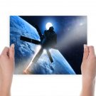 Romantically Apocalyptic Satellite Ion Cannon Laser Planet Stars  Poster 24x18 inch
