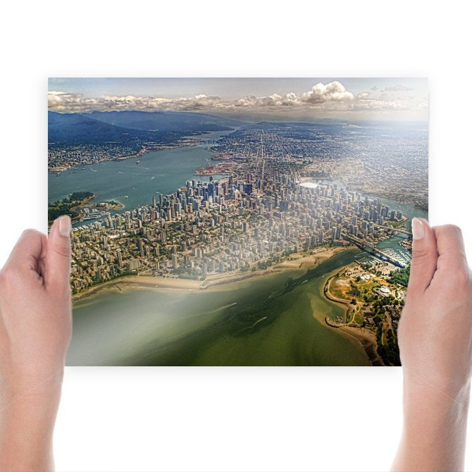 Vancouver Buildings Skyscrapers Aerial Tv Movie Art Poster 24x18 inch