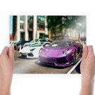 Lamborghini Aventador Tv Movie Art Poster 24x18 inch