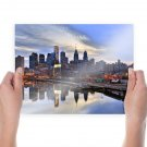Buildings Skyscrapers Reflection Tv Movie Art Poster 24x18 inch