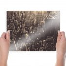 Buildings Skyscrapers New York Tv Movie Art Poster 24x18 inch