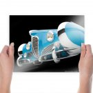 Classic Car Classic Black Delahaye Tv Movie Art Poster 24x18 inch