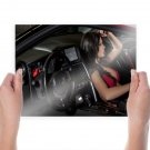 Nissan Skyline Gtr Interior Brunette Tv Movie Art Poster 24x18 inch