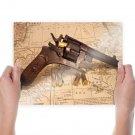 Revolver Map Bullets Tv Movie Art Poster 24x18 inch