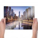 Buildings Skyscrapers River Chicago Tv Movie Art Poster 24x18 inch