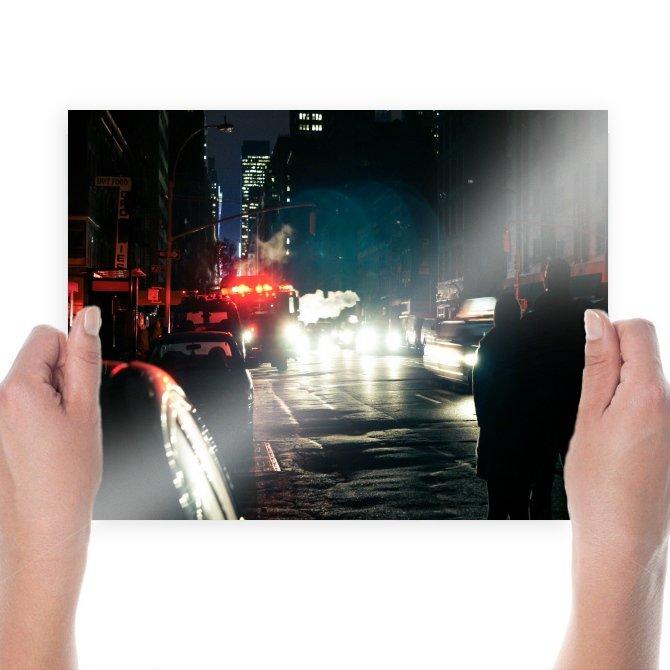 New York Blackout Buildings Skyscrapers Firetruck Street Tv Movie Art Poster 24x18 inch