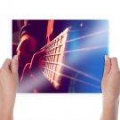 Guitar Warm Strings Macro Tv Movie Art Poster 24x18 inch
