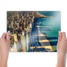 Chicago Coast Buildings Skyscrapers Tv Movie Art Poster 24x18 inch
