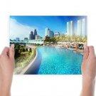 Pool Buildings Skyscrapers Kuala Lumpur Tv Movie Art Poster 24x18 inch