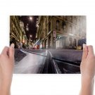 Road Buildings Lights Tv Movie Art Poster 24x18 inch