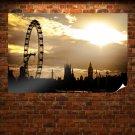Big Ben London Building Ferris Wheel Sunlight Tv Movie Art Poster 36x24 inch
