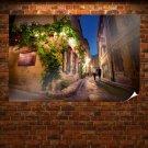 Street Alley Vine Buildings Tv Movie Art Poster 36x24 inch