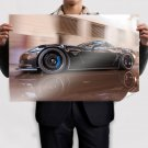 Chevrolet Corvette Motion Blur Tv Movie Art Poster 36x24 inch