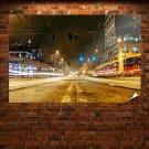 Street Timelapse Night Buildings Lights Tv Movie Art Poster 36x24 inch