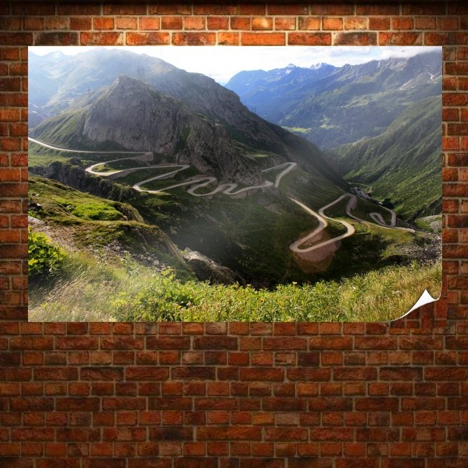 Mountain Mountain Road Road Landscape Tv Movie Art Poster 36x24 inch