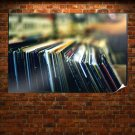 Records Macro Blur Tv Movie Art Poster 36x24 inch