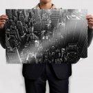 New York Aerial Buildings Skyscrapers Tv Movie Art Poster 36x24 inch
