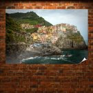 Manarola Buildings Coast Tv Movie Art Poster 36x24 inch