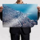 Chicago Buildings Skyscrapers Coast Aerial Tv Movie Art Poster 36x24 inch