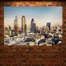 Buildings Skyscrapers London Tv Movie Art Poster 36x24 inch