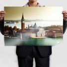 Buildings San Giorgio Maggiore Venice Ocean Tv Movie Art Poster 36x24 inch