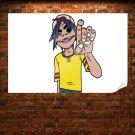 Gorillaz White Cigarette Tv Movie Art Poster 36x24 inch