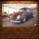Volkswagen Bug Volkswagen Classic Car Classic Warm Rust Slammed Tv Movie Art Poster 36x24 inch