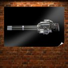 Minigun Black Tv Movie Art Poster 36x24 inch
