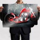 Red Motorcycle Desktop  Art Poster Print  36x24 inch