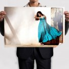 Lady In Blue  Art Poster Print  36x24 inch