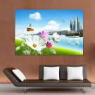 A Urban Scenery  Art Poster Print  36x24 inch