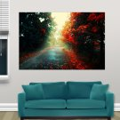 Fallen Leaves In Autumn S Art Poster Print  36x24 inch