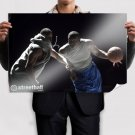 Amare Stoudemire Streetball Never Stops Art Poster Print  36x24 inch