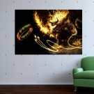 Balrog And The Ring  Art Poster Print  36x24 inch