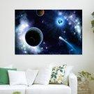 Sci Fi Planets Hd Art Poster Print  36x24 inch