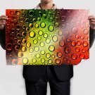 Colors And Bubbles  Art Poster Print  36x24 inch